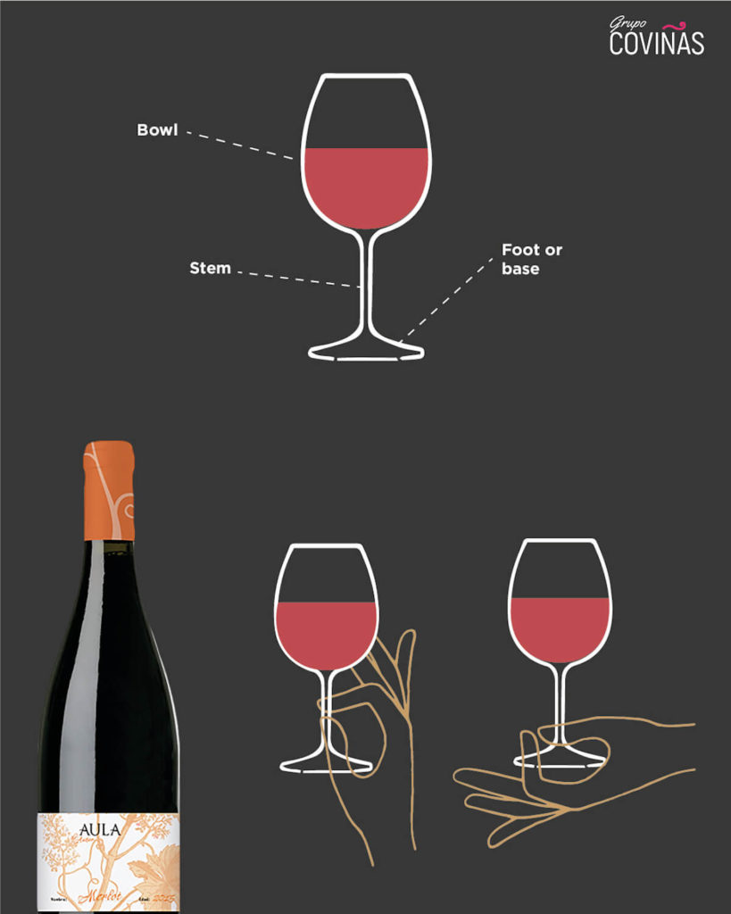the right way to hold a glass of wine