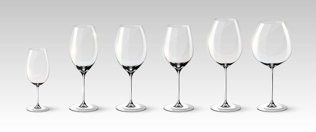 different types of wine glass
